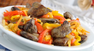 Печенка с овощами «Жгучая шатенка»