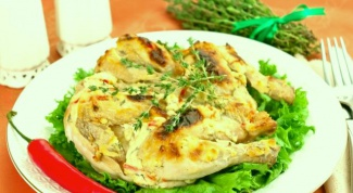 Цыпленок под кремом