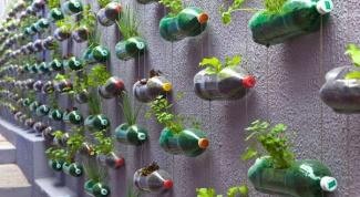 Как сделать огород из пластиковых бутылок