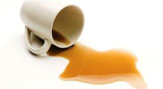Как удалить пятна от чая и кофе?
