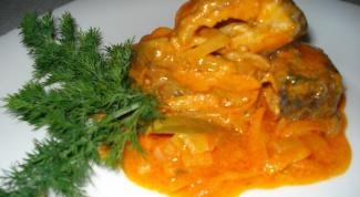 Рыба, тушеная в томатном соусе