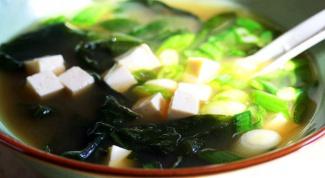 Мисо суп с тофу и шиитаке