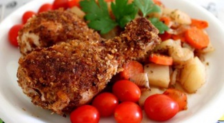 Готовим курицу с картошкой в мультиварке
