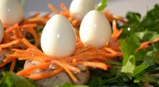 Как приготовить вкусную закуску «Гнездышко»