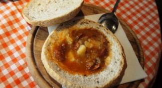 Как приготовить суп в хлебе по-чешски
