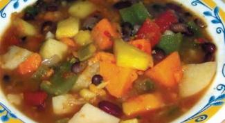 Суп с языком, фасолью и цветной капустой