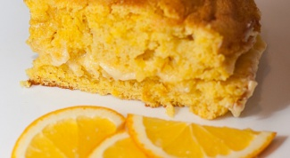 Апельсиновый бисквит с нежным кремом