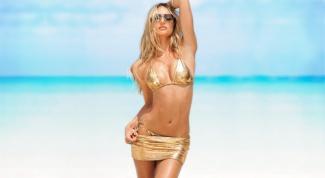 Как выбирать и с чем носить золотой купальник