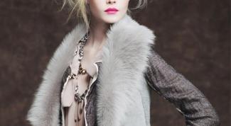 Меховой жилет: стильно и тепло