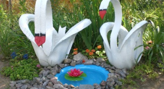 How to make a Swan from car tyres with their hands