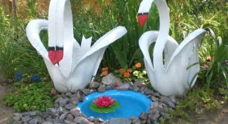 Как сделать лебедя из автомобильной покрышки своими руками