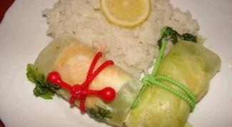 Рулетики из лососины и судака