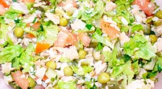 Салат из копченой рыбы с рисом