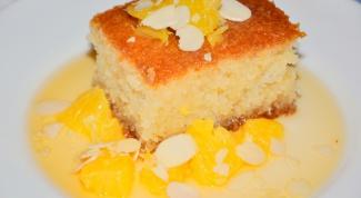 Басбуса с апельсиновым сиропом