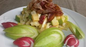 Хрустящий зеленый салат с анисовой ноткой