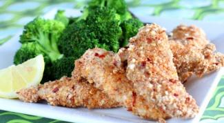 Как приготовить курицу в панировке из миндаля
