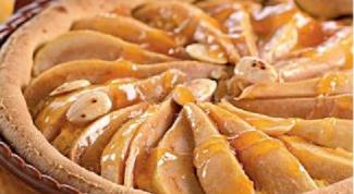 Магрибский пирог с миндалем и грушами