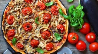 Пицца с овощами гриль
