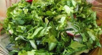 Мятный салат с крапивой