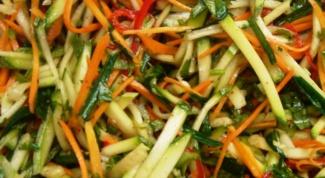 Салат с кабачками по-корейски