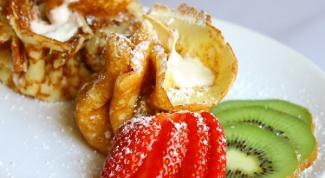 Как приготовить блины с яблоками и изюмом
