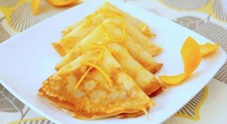 Французские апельсиновые блинчики