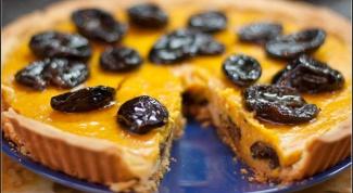 Как приготовить тыквенный пирог с черносливом в коньяке