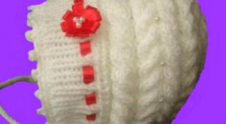 Детская шапочка с косами для девочки