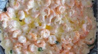 Креветки под сливочно-чесночным соусом