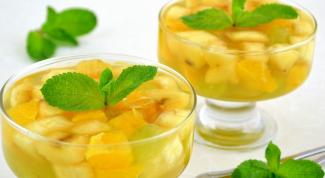 Как приготовить фрукты в чайном желе