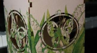 Чайный домик «Майский ландыш» в технике декупаж