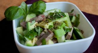 Как готовить вкусные салаты с говяжьим языком