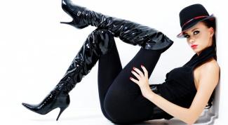 С чем носить сапоги ботфорты