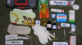 What should be in the first aid kit?