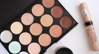 Makeup: concealer, bronzer, highlighter, shimmer, primer