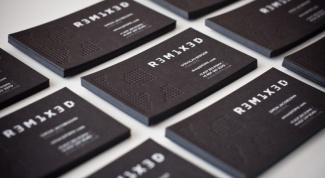 Визитная карточка - лицо фирмы: как сделать визитку