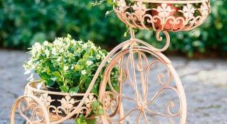 Как сделать декор напольных подставок для цветов