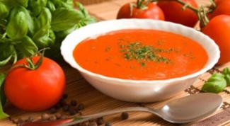 Томатный суп с цукини