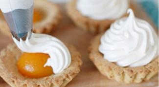 Корзинки с абрикосовым кремом «Зефир»