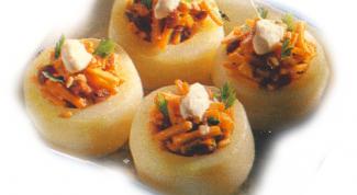 Кольраби с грибной начинкой