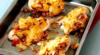 Куриное филе, жаренное с чипсами по-мексикански