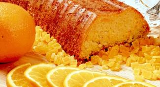 """Кекс """"Апельсиновый"""" с глазурью"""