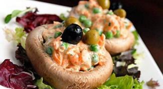 Три оригинальных рецепта салатов с грибами