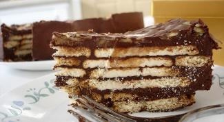 Торт из печенья за пять минут