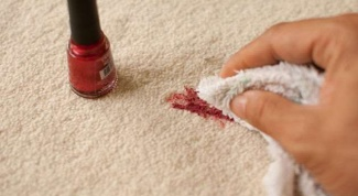 How to clean a carpet from nail Polish