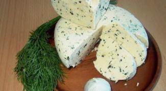 Домашний творожный сыр с чесноком и зеленью