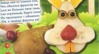 Как приготовить фруктового зайца