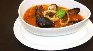 Суп из замороженных морепродуктов