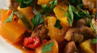 Как приготовить вкусное рагу из свинины с тыквой