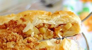 Как приготовить яблочный пирог из теста фило